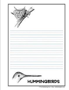 hummingbird notebooking pages from The Notebooking Fairy