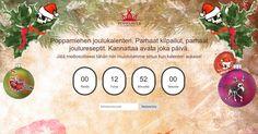 Osallistu joulukalenteriin ja voita palkintoja. http://poppamies.adventcalendar.com/