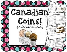 Help your students practice their money smarts with these Canadian coin worksheets! Each page is filled with questions and authentic photos to help engage your students and reinforce their learning! Teaching Plan, Teaching Kids, Learning Money, Coin Logo, Canadian Coins, Make Real Money, Flip, 9 Year Olds, Kindergarten Math