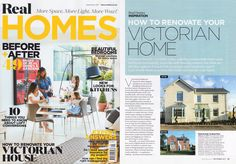 Real Homes September 2017 - How to Renovate Your Victorian Home featuring Ragdale Hall by Back to Front Exterior Design