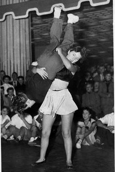A Danish couple in action during the annual Swedish-Danish Jitterbug contest, at the Tivoli Dance Hall in Copenhagen, Aug. Swing Dancing, Swing Dance Moves, Ballroom Dancing, Girl Dancing, Just Dance, Shall We Dance, Lindy Hop, Rockabilly, Jazz
