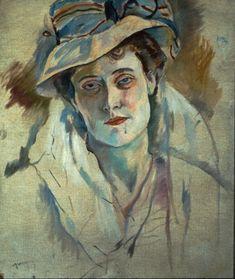 Jules Pascin, American, born Bulgaria, 1885-1930.  Hermine David, 1907, Oil on canvas.
