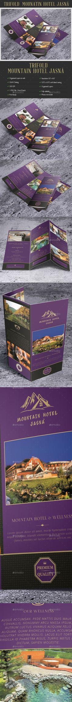 Creative TriFold Brochure Mountain Hotel Jasná