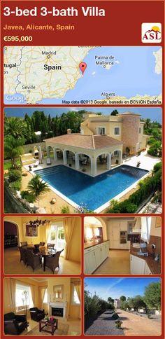 3-bed 3-bath Villa in Javea, Alicante, Spain ►€595,000 #PropertyForSaleInSpain