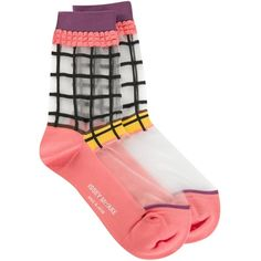 Issey Miyake sheer panel socks (1.491.645 VND) ❤ liked on Polyvore featuring intimates, hosiery, socks, socks/tights, multicolour, colorful socks, issey miyake, multi colored socks, multicolor socks and multi color socks