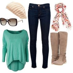 Fashiontrends4everybody: Casual Outfit Idea with Floral Scarf