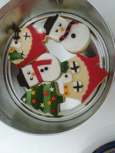 Galletas navideñas de mantequilla con decoración de fondant