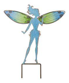 Look what I found on #zulily! Small Blue Fairy Garden Stake #zulilyfinds