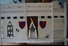 Knight's Castle Bunk Bed Tent. Create A Secret Hideaway To Inspire Imaginative…