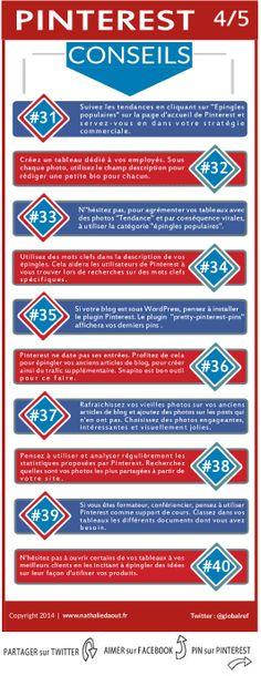 #Infographie #Pinterest : Conseils pour bien utiliser ce réseau. http://www.nathaliedaout.fr/10-conseils-pinterest-les-pros-45/