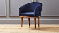 Viceroy velvet chair (sapphire blue) by Leonhard Pfeifer | CB2 | $379