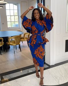 Source by emsrosa fashion dresses Ankara Skirt And Blouse, African Maxi Dresses, African Fashion Ankara, African Inspired Fashion, Latest African Fashion Dresses, African Dresses For Women, African Print Fashion, African Attire, Ghana Fashion
