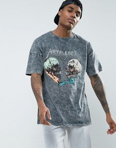 Get this Asos's long t-shirt now! Click for more details. Worldwide shipping. ASOS Metallica Oversized Band T-Shirt With Acid Wash - Black: T-shirt by ASOS, Lightweight jersey, Crew neck, Dropped shoulders, Metallica print, Looser in the chest and hem, Oversized fit � falls generously over the body, Length: 72cm/28�, Machine wash, 100% Cotton, Our model wears a size Medium and is 185.5cm/6'1 tall. ASOS menswear shuts down the new season with the latest trends and the coolest products, des...