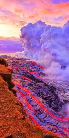 Kilauea Volcano, Hawaii, USA: