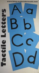 DIY tactile letters. No sandpaper needed!!  Free letter templates and step-by-step directions.