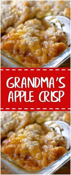 Grandma's Apple Crisp #grandmas #apple #crisp #whole30 #foodlover #homecooking #cooking #cookingtips
