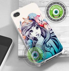 Ariel little mermaid - iPhone 4/4s/5/5S/5C Case - Samsung Galaxy S2/S3/S4 Case - Black or White on Etsy, $14.80