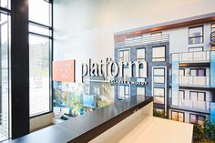 Platform by Aragon Properties - Free Agency Creative Sales Center, Sales Office, Aragon, Vancouver, Signage, Environment, Typography, Platform, Real Estate