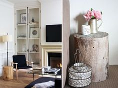 diy inspiration tree stump coffee tables a pair and a spare by apairandaspare