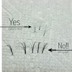 """I had a client come in today with HORRIBLE """"volume"""" work. These fans had up to 10 or more lashes, and not even fanned. This kind of work is poo and will damage your own lashes. Volume Fans should be looking like the ones I've made. If you are getting your lashes done and the fans look like this, it is not done correctly and is not healthy for your lashes. . . #lashesbymindi #eyelashextensions #volumelashes #eyelashes #draperlashes #draperlashartist #cleanlashes #russianvolume #lashes…"""