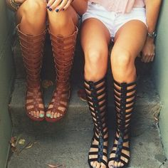 LF Gladiator Sandals LF gladiator sandals! Black! Faux leather! Worn once! Size 7! NO TRADES madden LF Shoes Sandals