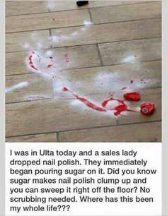 If you spill nail polish...life hack