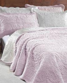 Yatak Örtüsü Çift Kişilik Clara - Pudra