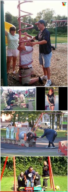 10+ Funny Photos Of Adults Stuck In Playground And Having A Worst Day