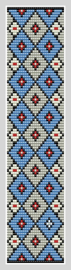 Bead loom Cuff Pattern PDF Pattern Geometric by BeadscapesbyEs  SIngle wide for hatband???