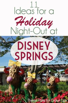 Disney Springs is an adult-haven for live entertainment, good food, and a solid cocktail. This holiday, they've concocted some special events and seasonal food and drinks. Don't miss the newly amped up Christmas Tree Trail, hard eggnog, and more. Did I mention they have *gourmet* gingerbread cotton candy?? AND Admission to the springs is completely free! #christmas #holiday #disneyworld