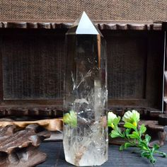 "5.67""Natural Large Clear Quartz Tower/CRYSTAL Point /Crystal Tower/Himalaya crystal-1piece-144*43mm 373g 29# by ElfOfStones on Etsy"