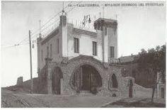 Així era la plaça del funicular de Vallvidrera «la plaça de dalt», que es va anomenar després plaça de Pep Ventura.
