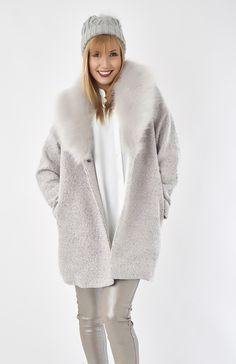 Un manteau tout doux et tout chaud #gris