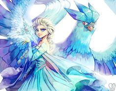 Frozen x Pokemon: Elsa and Articuno by Sa-Dui