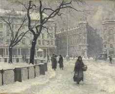 Paul Fischer (Danish, 1860-1934) , Copenhagen in Winter