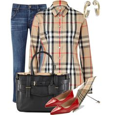Stretch Cotton New Classic Check Shirt detail 0 Camisa Burberry, Burberry Shirt, Burberry Women, Burberry Plaid, Burberry Kids, Long Sleeve Tops, Long Sleeve Shirts, Beige Shirt, Tailored Shirts