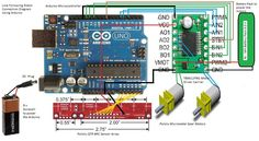 PID Based Line Follower | Let's Make Robots! Robotics Projects, Power Motors, Cool Electronics, Arduino, Robots, Line, Connection, Digital, Projects