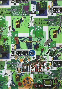 cm, sticker on print, 2015 Paper Artwork, Conceptual Art, Buy Art, Fields, Saatchi Art, City Photo, Original Art, Collage, Puppies
