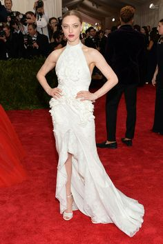 Amanda Seyfried in a custom made Givenchy gown.