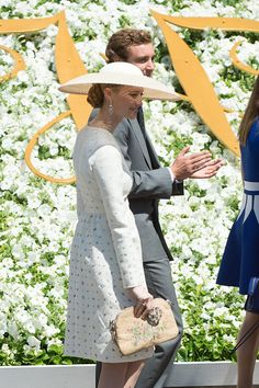 Pierre Casiraghi with Beatrice Borromeo; christening of Monaco's princely twins, Princess Gabriella and Hereditary Prince Jacques, on May 10, 2015 at the Cathedral of Monaco