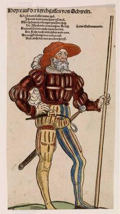 Erhard Schön - Heyne auss der Kyrchgassen von Schweitz - circa 1530