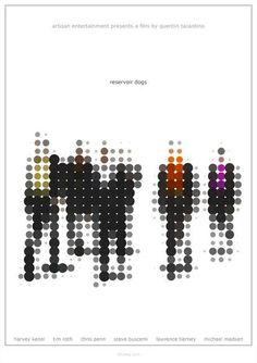 Reservoir Dogs - Alternative, Minimalist Poster by (Gary Goddard) on deviantART Minimalist Graphic Design, Minimalist Drawing, Minimalist Poster, Graphic Design Posters, Graphic Design Typography, Graphic Design Inspiration, Poster Designs, Reservoir Dogs, Dots Design