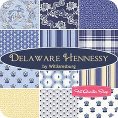 Delaware Hennessy Fat Quarter Bundle Williamsburg for Windham Fabrics