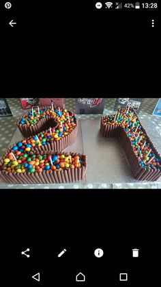 21st chocolate finger cake