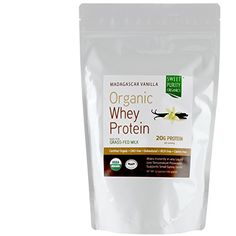 CERTIFIED Organic Whey Protein Powder 1 BEST TASTING Grass Fed Undenatured Concentrate NON GMO Gluten Free  Madagascar Vanilla 12 oz >>> Check this awesome product by going to the link at the image.