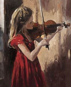 """Sweet Music"" -- by Sherree Valentine Daines, British Violin Art, Violin Painting, Impressionist Artists, Illustration Mode, Art Themes, Michelangelo, Anime Comics, Art Music, Art Drawings"