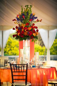 Flower Gallery arrangement for a wedding on #Biltmore Estate's South Terrace.