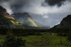 https://flic.kr/p/xPM5Gm | Rainbow From Logan Pass Parking Lot | NPS / Tim Rains | Glacier National Park, Montana | pinned by haw-creek.com