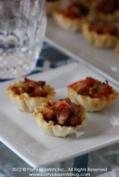 Mini Sausage Phyllo Cups