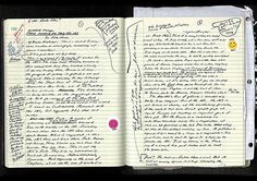David Foster Wallace The Very Weird Handwriting Of Very Famous Authors Writers Notebook, Journal Notebook, Journal Pages, David Foster Wallace, Book Annotation, Cool Journals, Commonplace Book, Bullet Journal Art, Pen And Paper